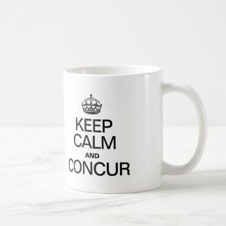 KEEP CALM AND CONCUR COFFEE MUG