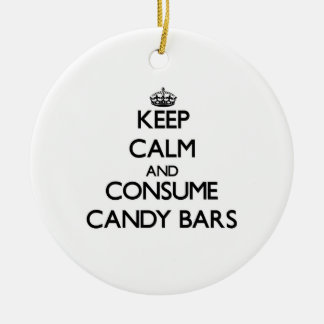 Keep calm and consume Candy Bars Ornament