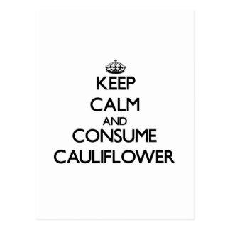 Keep calm and consume Cauliflower Postcard
