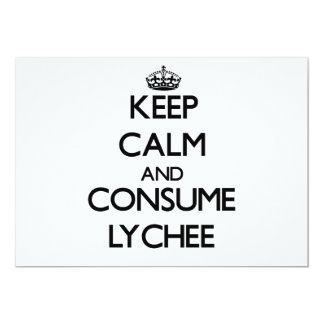 Keep calm and consume Lychee 5x7 Paper Invitation Card