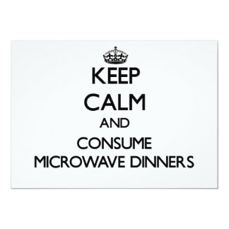 Keep calm and consume Microwave Dinners Personalized Announcement