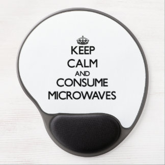 Keep calm and consume Microwaves Gel Mouse Mat