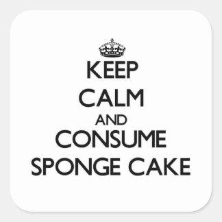 Keep calm and consume Sponge Cake Sticker
