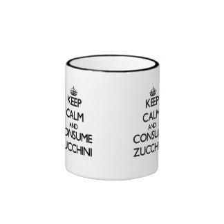 Keep calm and consume Zucchini Ringer Coffee Mug