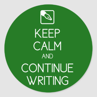 Keep Calm and Continue Writing Sticker