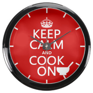 Keep Calm and Cook On Fish Tank Clock
