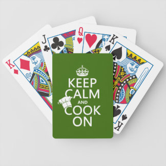 Keep Calm and Cook On Bicycle Playing Cards