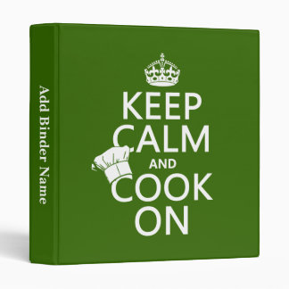 Keep Calm and Cook On Binder