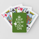 Keep Calm and Cook On (customizable colors) Bicycle Playing Cards