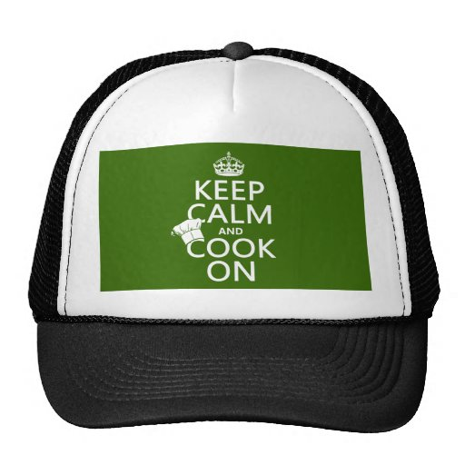 Keep Calm and Cook On (customizable colors) Trucker Hat