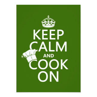 Keep Calm and Cook On (customizable colors) Announcements