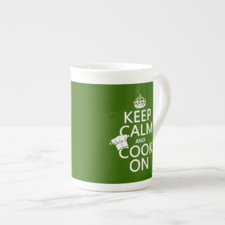 Keep Calm and Cook On (customizable colors) Tea Cup