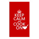 Keep Calm and Cook On (customize colors) Business Card Template