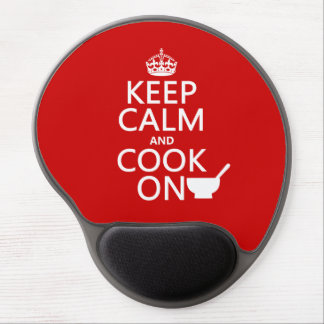 Keep Calm and Cook On (customize colors) Gel Mouse Mats