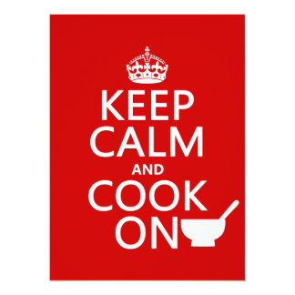 Keep Calm and Cook On (customize colors) Custom Announcements
