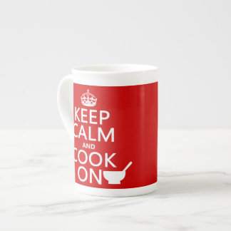 Keep Calm and Cook On (customize colors) Tea Cup