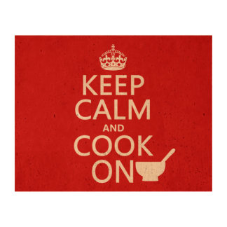 Keep Calm and Cook On Cork Paper