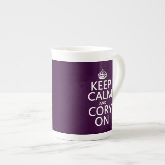 Keep Calm and Cory On (any background color) Tea Cup