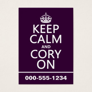 Keep Calm and Cory On (any color) Business Card