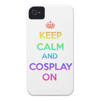 Keep Calm and Cosplay On iPhone 4 Cover