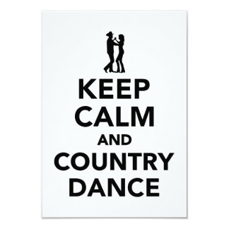 Keep calm and country dance card
