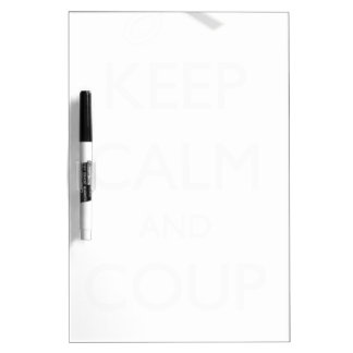 """""""Keep Calm and Coup On"""" Couponer's Shirt Dry Erase Whiteboard"""