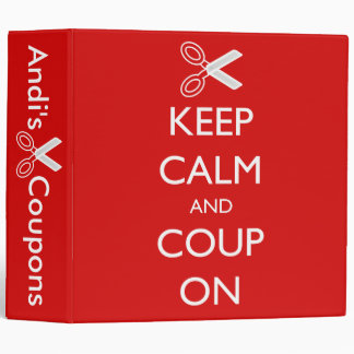 """""""Keep Calm and Coup On"""" Personalized Coupon Binder"""