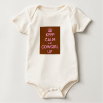 Keep Calm and Cowboy Baby Bodysuit