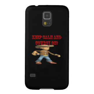 Keep Calm And Cowboy On 2 Galaxy S5 Case