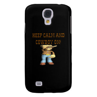 Keep Calm And Cowboy On 3 Samsung Galaxy S4 Cover