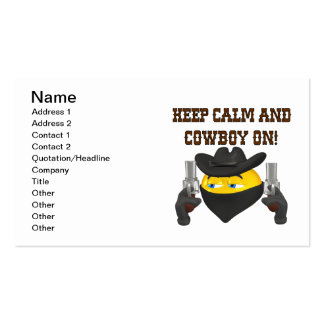 Keep Calm And Cowboy On Business Card Templates