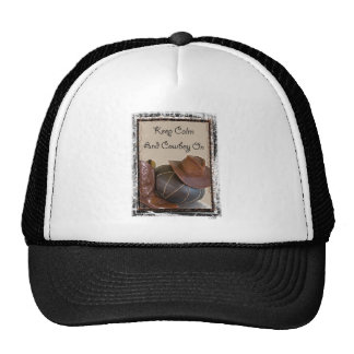 Keep Calm And Cowboy On Mesh Hat
