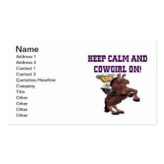 Keep Calm And Cowgirl On Business Cards