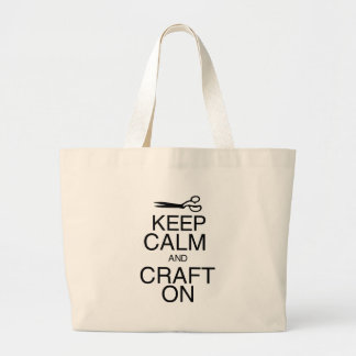 Keep Calm and Craft On Canvas Bags