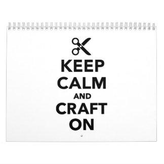 Keep calm and craft on calendar