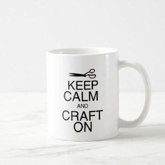 Keep Calm and Craft On Coffee Mug