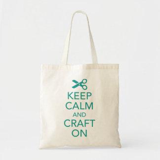Keep Calm and Craft On Tote Bag