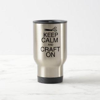 Keep Calm and Craft On Travel Mug