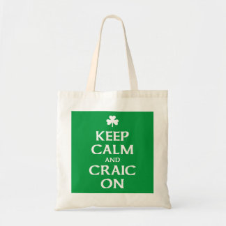 Keep Calm and Craic On Tote Bag