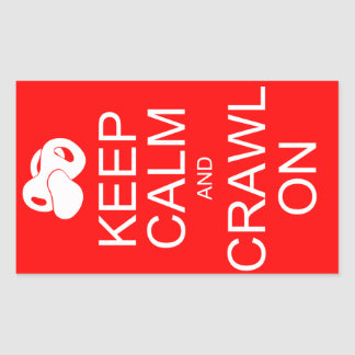Keep Calm and Crawl On Stickers