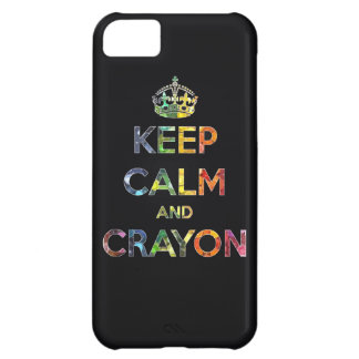 Keep Calm and Crayon draw drawing kid kids funny c Case For iPhone 5C