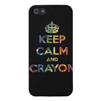 Keep Calm and Crayon draw drawing kid kids funny c Cover For iPhone SE/5/5s