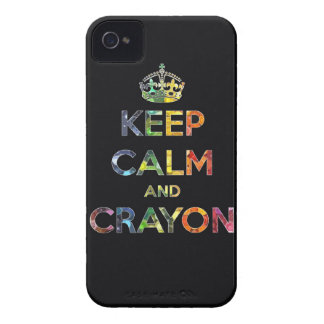 Keep Calm and Crayon draw drawing kid kids funny c iPhone 4 Case