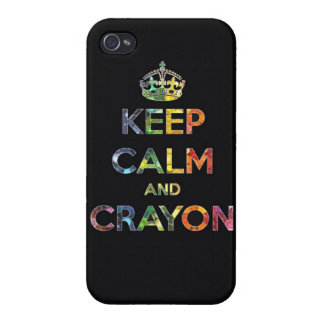 Keep Calm and Crayon draw drawing kid kids funny c iPhone 4 Covers