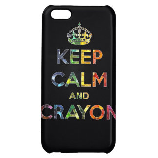 Keep Calm and Crayon draw drawing kid kids funny c iPhone 5C Covers