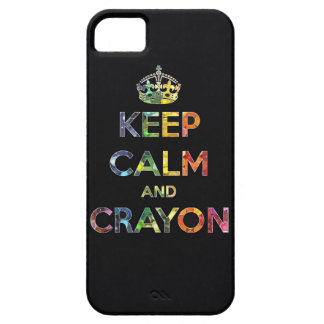 Keep Calm and Crayon draw drawing kid kids funny c iPhone SE/5/5s Case