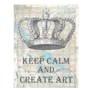 Keep Calm and Create Art Vintage Graphic Design Letterhead