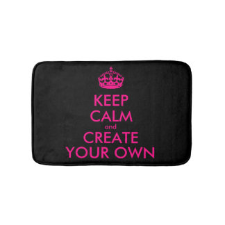 Create your own bath mats zazzle for Bathroom design your own