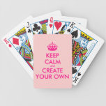 Keep calm and create your own - Pink Bicycle Card Decks