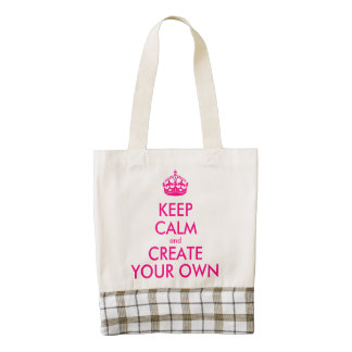 Keep calm and create your own - Pink Zazzle HEART Tote Bag